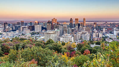 Montreal City In Autumn Print by Pierre Leclerc Photography