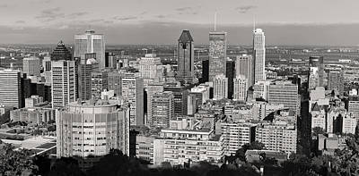 Montreal Cityscapes Photograph - Montreal City Skyline In Black And White by Pierre Leclerc Photography