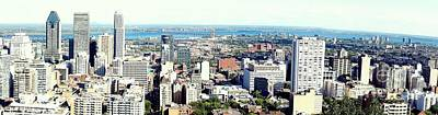 Montreal City View From Mont Royal Print by Lingfai Leung