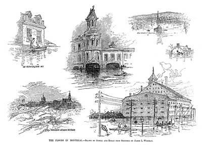 Montreal Flood, 1886 Print by Granger