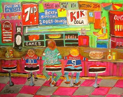 Litvack Painting - Montreal Hockey Tradition by Michael Litvack