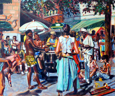 Montreal Painting - Montreal Jazz Festival by Michael Gaudet