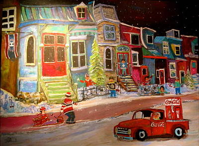 Painting - Montreal Memories Of Street Of Icons by Michael Litvack