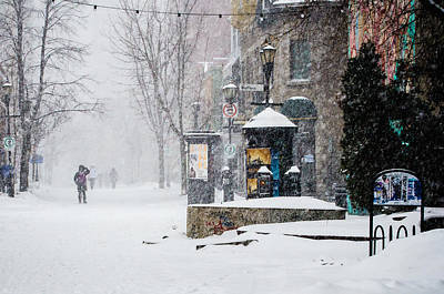 Montreal Snow Storm Print by Martin New