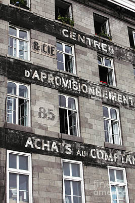 Old Montreal Photograph - Montreal Windows by John Rizzuto