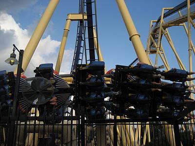 Rollercoaster Photograph - Montu Roller Coaster - Busch Gardens Tampa - 011312 by DC Photographer