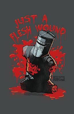 Python Digital Art - Monty Python - Flesh Wound by Brand A