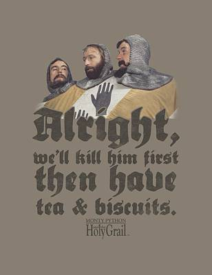 Python Digital Art - Monty Python - Tea And Biscuits by Brand A