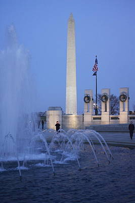 Monument And Fountain Original by Jaime Costanzo