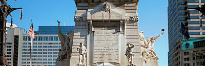 Indianapolis Photograph - Monument In A City, Soldiers by Panoramic Images