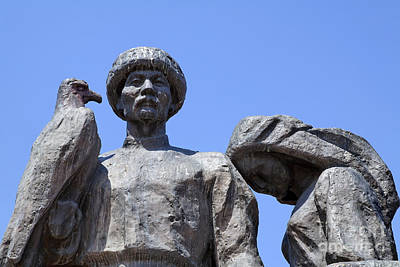 Monument To The Martyrs Of The Revolution In Bishkek In Kyrgyzstan  Print by Robert Preston