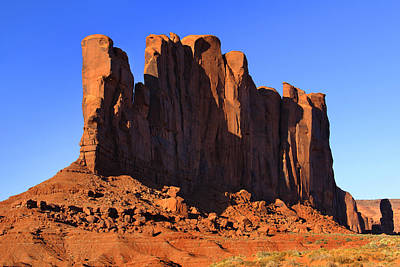 Sage Brush Photograph - Monument Valley - Camel Butte by Mike McGlothlen