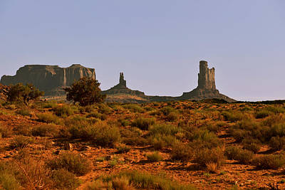 Wild West Photograph - Monument Valley - Unusual Landscape by Christine Till
