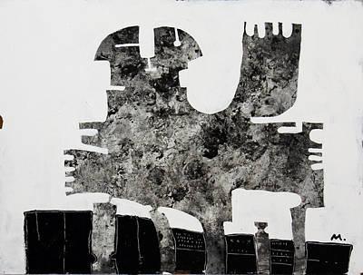 Board Mixed Media - Monumentum No 1 by Mark M  Mellon