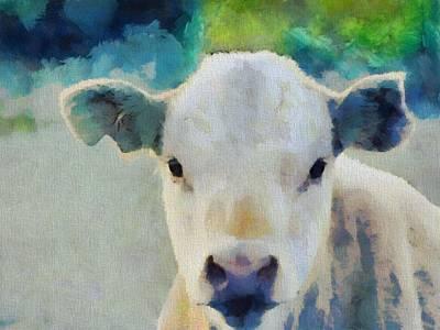 Steer Painting - Moo by Dan Sproul