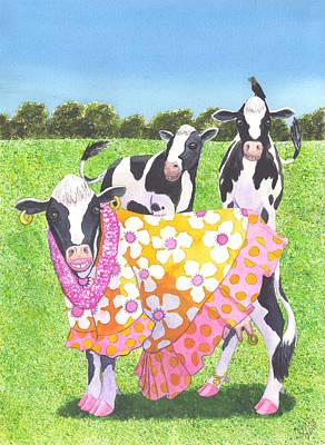 Moo Moo Print by Catherine G McElroy