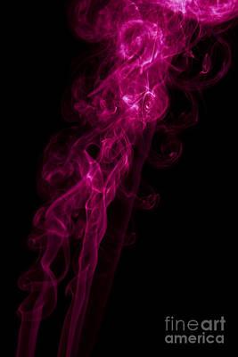 Mood Colored Abstract Vertical Purple Smoke Wall Art 02 Print by Alexandra K