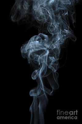 Angels Smoking Painting - Abstract Vertical White Mood Colored Smoke Wall Art 03 by Alexandra K