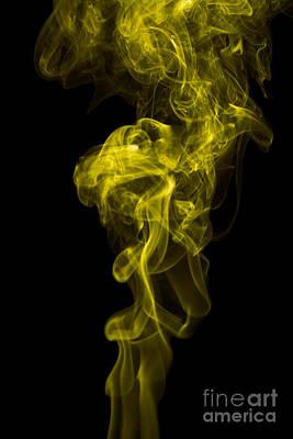 Mood Colored Abstract Vertical Yellow Smoke Wall Art 01 Print by Alexandra K