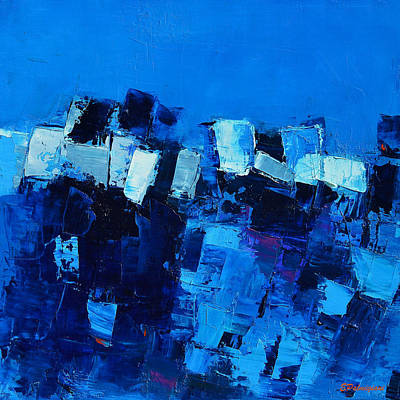 Fauvism Painting - Mood In Blue by Elise Palmigiani