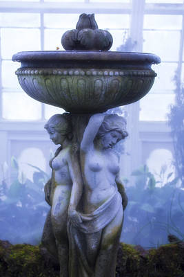 Moody Blue Statue Print by Garry Gay