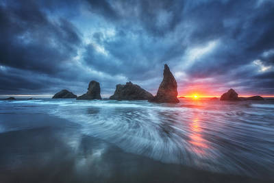 Moody Blues Of Oregon Print by Darren  White