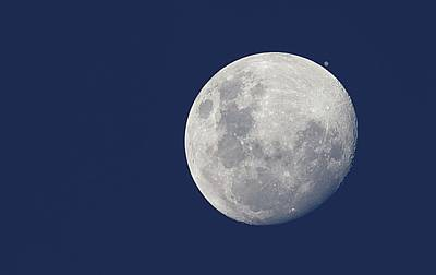 Moon And Jupiter Print by Luis Argerich