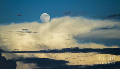 Moon And Thunderclouds Print by Dustin K Ryan