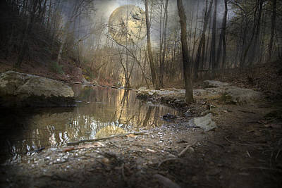 Moon Camp Print by Betsy C Knapp