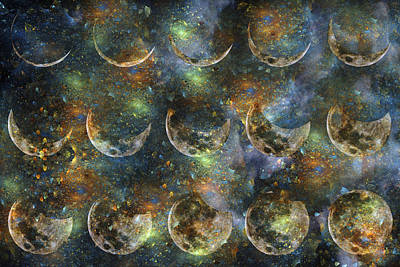 Cosmos Digital Art - Moon by Betsy C Knapp