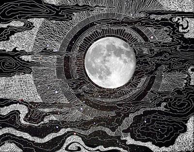Moon Glow Print by Brenda Erickson