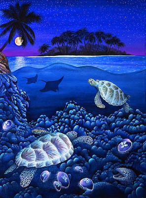 Moon Glow Print by Carolyn Steele