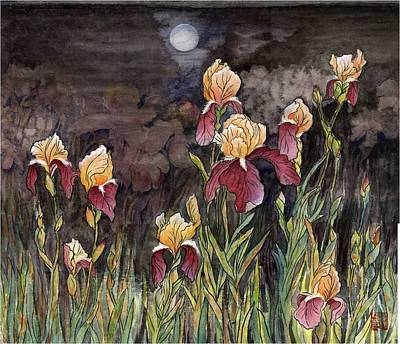 Moon Light At My Backyard Print by Ping Yan
