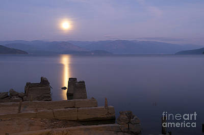 Moon Beams Photograph - Moon On The Water by Idaho Scenic Images Linda Lantzy