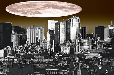 Moon Over Manhattan Print by Kellice Swaggerty