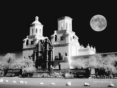 Arizonia Photograph - Moon Over Mission Del Bac by Robert Kleppin