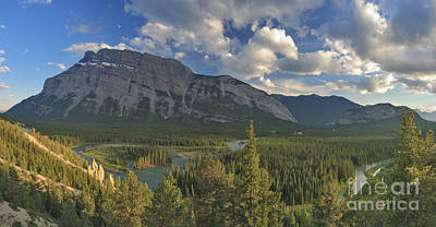 Canada Photograph - Moon Over Rundle by Charles Kozierok