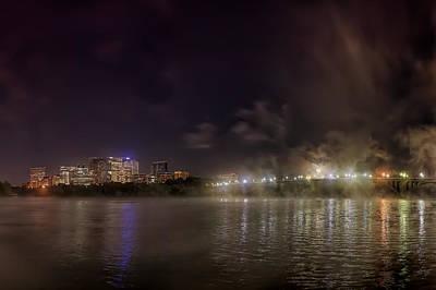City Photograph - Moon Over The Bridge by Metro DC Photography