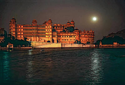 Moon Over Udaipur Print by Steve Harrington