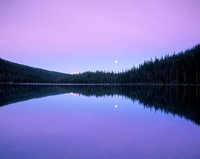 Mystic Lakes Photograph - Moon Rise by Leland D Howard