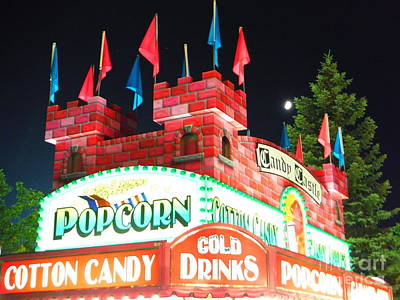 Moon Rising Over Candy Castle Print by Paddy Shaffer