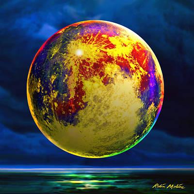 Moon Shadowed Print by Robin Moline