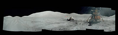 Meteor Photograph - Moon Surface From Apollo Mission by Celestial Images