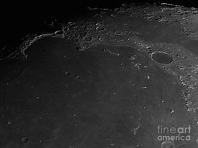 Moon Surface With Mare Imbrium Print by John Chumack