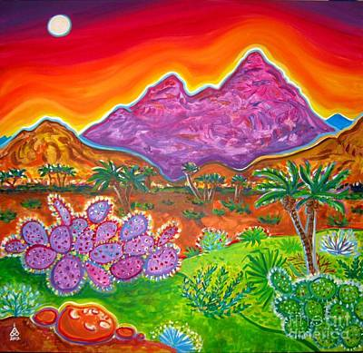 Galleries In Arizona Painting - Moon Valley View by Rachel Houseman