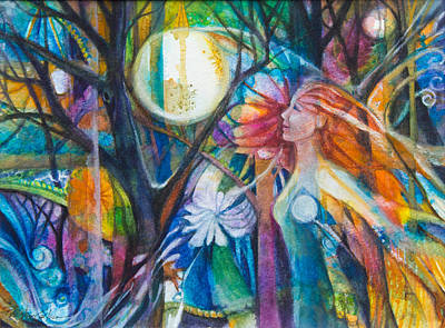 Moonheart Original by Patricia Allingham Carlson