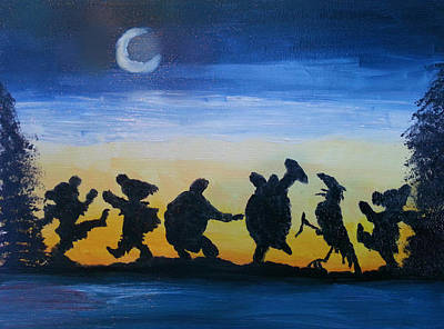 Grateful Dead Painting - Moonlight Dance by Barbara Cole