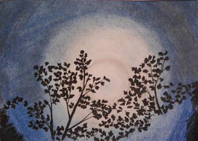 Forestry Mixed Media - Moonlight by Molly Grover