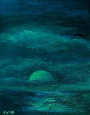 Moonlight On The Water Original by Mary Wolf