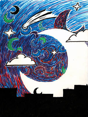 Luna Mixed Media - Moonlight Over The Desert by Max Antinone